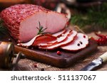 Delicious Smoked Ham On A...
