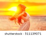 happy woman feeling free with... | Shutterstock . vector #511139071