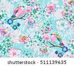 bouquet of exotic flower with a ... | Shutterstock . vector #511139635