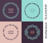 set of wreath  line design and... | Shutterstock .eps vector #511141945