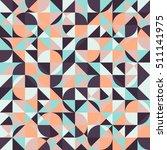 geometric retro background.... | Shutterstock .eps vector #511141975