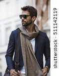 fashion dude in scarf and... | Shutterstock . vector #511142119