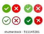 tick and cross signs. green... | Shutterstock .eps vector #511145281
