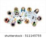 flat design illustration... | Shutterstock .eps vector #511145755