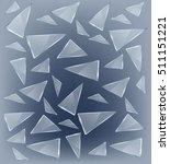 vector transparent broken glass ... | Shutterstock .eps vector #511151221