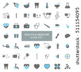 blue and gray health and... | Shutterstock .eps vector #511154095