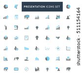 blue and gray presentation icon ...