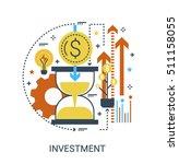 infographic flat design concept ... | Shutterstock .eps vector #511158055