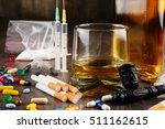 variety of addictive substances ... | Shutterstock . vector #511162615