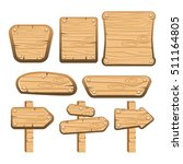 a set of wooden boards  panels... | Shutterstock . vector #511164805