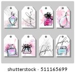 a set of hand drawn cute gift... | Shutterstock .eps vector #511165699