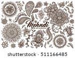 big vector set of hand drawn... | Shutterstock .eps vector #511166485