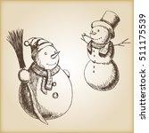 Christmas Hand Drawn Vector...