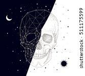 constellation  skull  contrast  ... | Shutterstock .eps vector #511175599