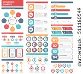 infographic elements   circle...