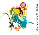 modern summer banner with...   Shutterstock .eps vector #51118114