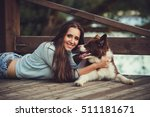 portrait of a woman with her...   Shutterstock . vector #511181671