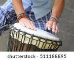 man playing on djembe | Shutterstock . vector #511188895