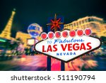 welcome to fabulous las vegas... | Shutterstock . vector #511190794