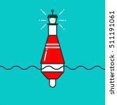 buoy icon illustration. line...   Shutterstock .eps vector #511191061