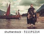 viking warrior with sword... | Shutterstock . vector #511191214