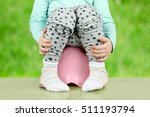 children's legs hanging down... | Shutterstock . vector #511193794