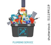 plumbing service concept with...
