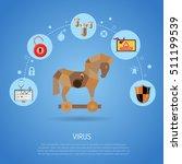 cyber crime   virus concept... | Shutterstock .eps vector #511199539