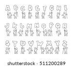 cartoon icons set of sketch... | Shutterstock .eps vector #511200289