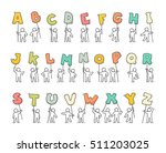 cartoon icons set of sketch... | Shutterstock .eps vector #511203025
