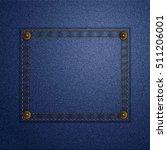 dark blue jeans texture pocket. ... | Shutterstock .eps vector #511206001