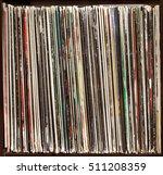 stack of old vinyl records.... | Shutterstock . vector #511208359