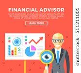 financial advisor concept.... | Shutterstock .eps vector #511211005
