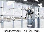 dancing businessman in office...   Shutterstock . vector #511212901