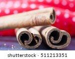 Cinnamon Sticks Close Up On...