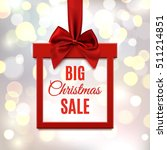 big christmas sale  square... | Shutterstock . vector #511214851