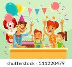 children happy birthday. family ... | Shutterstock .eps vector #511220479
