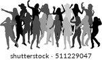 beautiful women dancing.white... | Shutterstock .eps vector #511229047