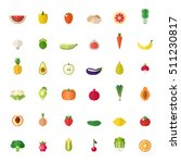 fruit and vegetable big flat... | Shutterstock .eps vector #511230817
