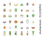 food and drinks outline icon...   Shutterstock .eps vector #511230901