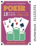 poker tournament invitation... | Shutterstock .eps vector #511231531