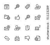 website icons. strokes have not ... | Shutterstock .eps vector #51123289