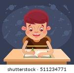 happy child character doing... | Shutterstock .eps vector #511234771