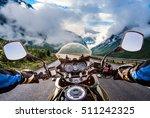biker driving a motorcycle... | Shutterstock . vector #511242325