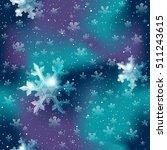 seamless snowflake pattern in... | Shutterstock .eps vector #511243615