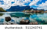 panorama lofoten islands in the ... | Shutterstock . vector #511243741