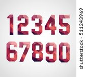numbers set in modern polygonal ... | Shutterstock .eps vector #511243969