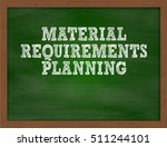 material requirements planning... | Shutterstock . vector #511244101