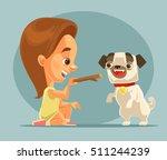 little girl child character...   Shutterstock .eps vector #511244239