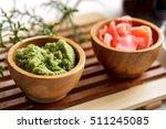 wasabi  a pungent green... | Shutterstock . vector #511245085
